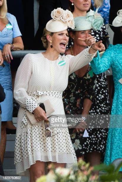 Zara Tindall attends Royal Ascot 2021 at Ascot Racecourse on June 15, 2021 in Ascot, England.