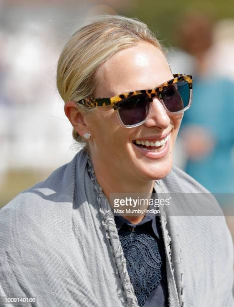 Zara Tindall attends the 2018 International Day Polo Match at The Royal County of Berkshire Polo Club on July 28 2018 in Windsor England