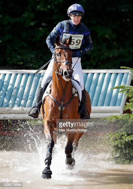 Mia Tindall and Isla Phillips attend day 3 of the Whatley Manor Horse Trials at Gatcombe Park on September 9 2018 in Stroud England