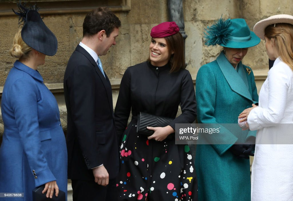 The Royal Family Attend Easter Service At St George's Chapel, Windsor : News Photo