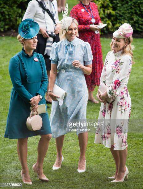 Zara Tindall, Jenni Falconer and Autumn Phillips attend day three, Ladies Day, of Royal Ascot at Ascot Racecourse on June 20, 2019 in Ascot, England.