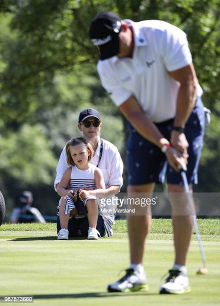 Zara Tindall Mike Tindall and Mia Tindall during the 2018 'Celebrity Cup' at Celtic Manor Resort on June 30 2018 in Newport Wales