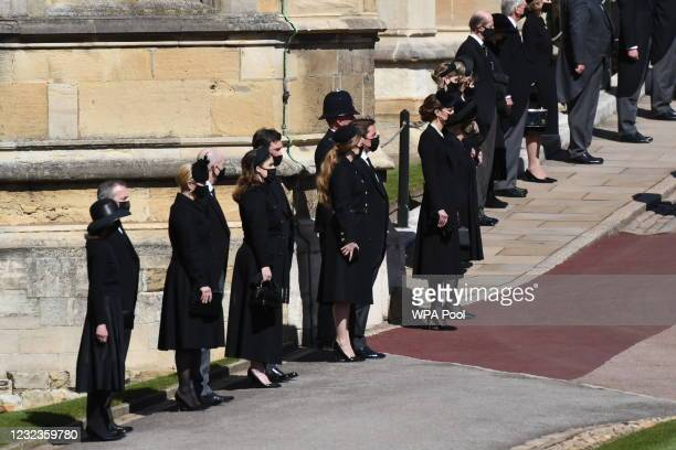 Zara Tindall, Mike Tindall, Princess Eugenie, Jack Brooksbank, Princess Beatrice, Edoardo Mapelli Mozzi, Catherine, Duchess of Cambridge and Camilla,...