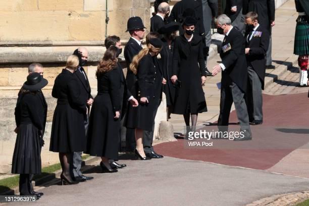Zara Tindall, Mike Tindall, Princess Eugenie, Jack Brooksbank, Princess Beatrice, Edoardo Mapelli Mozzi, Catherine, Duchess of Cambridge and Camilla,...