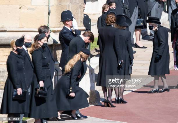 Zara Tindall, Mike Tindall, Princess Eugenie, Jack Brooksbank, Princess Beatrice and Edoardo Mapelli Mozzi, Catherine, Duchess of Cambridge and...