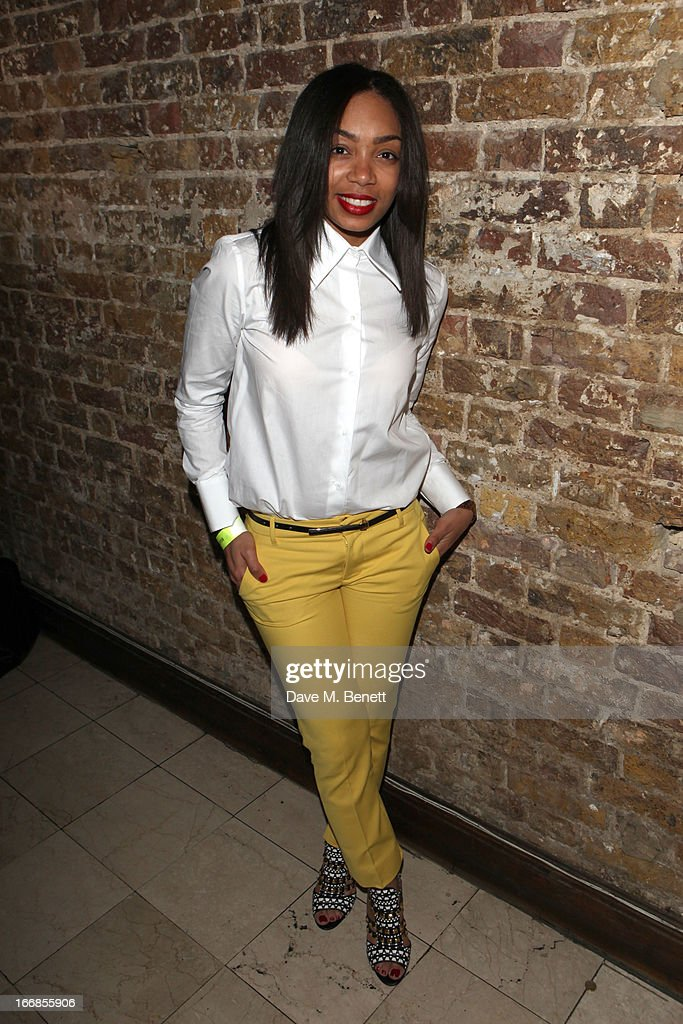 Zaraah Abrahams attends the 'Beautiful Thing' press night after party at Salvador and Amanda on April 17, 2013 in London, England.