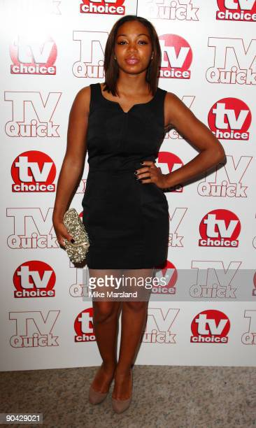 Zaraah Abrahams attends the TV Quick Tv Choice Awards at The Dorchester on September 7 2009 in London England