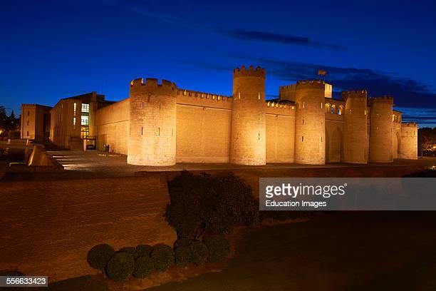 Zaragoza Aljaferia Palace Cortes de Aragon autonomous parliament Saragossa Aragon Spain
