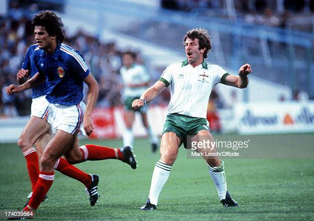 Zaragoza World Cup Northern Ireland v Yugoslavia Gerry Armstrong