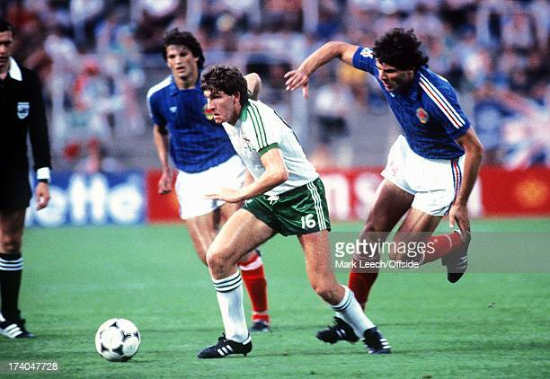 Zaragoza World Cup Northern Ireland v Yugoslavia Norman Whiteside becomes the youngest World Cup player at the age of seventeen