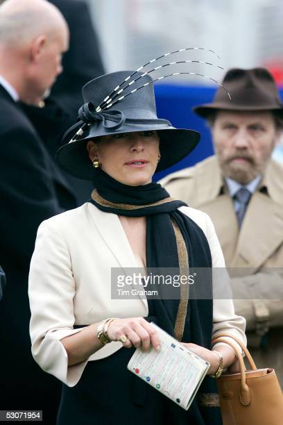 Zarah the daughter of the Aga Khan in traditional Ascot fashion hat attends the second day of Royal Ascot 2005 at York Racecourse on June 15 2005 in...