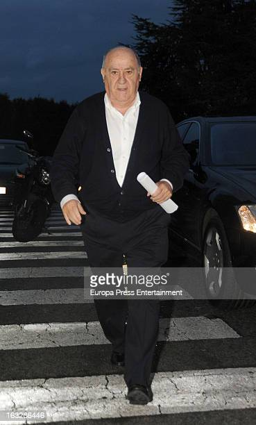 Zara's owner Amancio Ortega visits his daughter Marta Ortega after giving birth her first son Amancio Alvarez at Quiron Hospital on March 6 2013 in A...