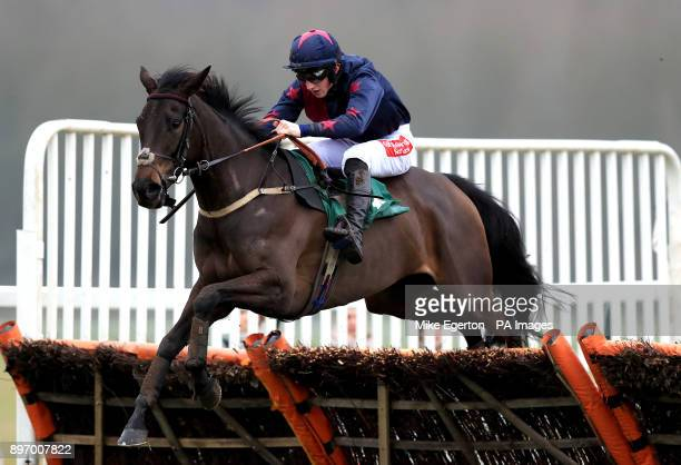 Zara's Reflection ridden by Jockey Ciaran Gethings during the Toteplacepot Maiden Hurdle At betfredcom Chase at Towcester Racecourse