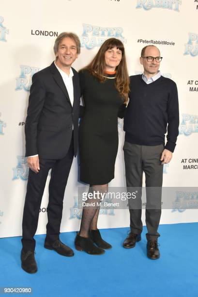 Zareh Nalbandian Jodi Hildebrand and guest attend the UK Gala Premiere of 'Peter Rabbit' at the Vue West End on March 11 2018 in London England