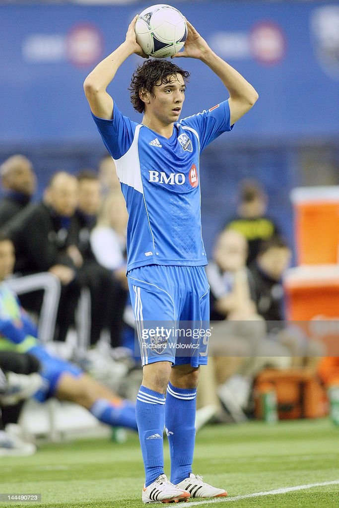 Zarek Valentin Of The Montreal Impact Throws The Ball During The MLS Match  Against The Toronto