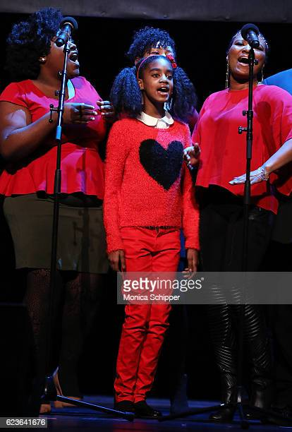 Zariah Singletary performs on stage at 'The First Noel' Sneak Peek at The Apollo Theater on November 16 2016 in New York City