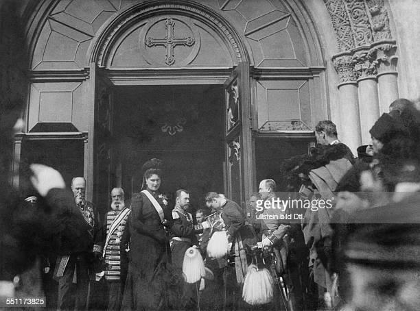 Zarin Alexandra Feodorowna *06061872 geboren als Prinzessin Alix von HessenDarmstadt Totenmesse zum Gedenken an die verstorbene Kaiserin Victoria...