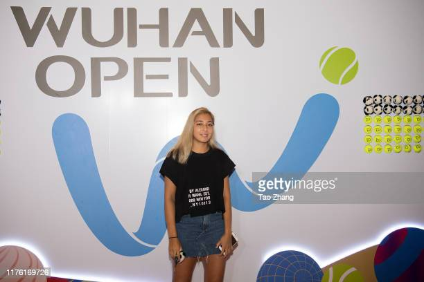 Zarina Diyas of Kazakhstan attends a official player party at Hilton hotel on September 21, 2019 in Wuhan, China.