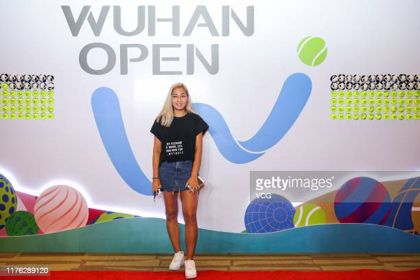 Zarina Diyas of Kazakhstan attends an official player party ahead of 2019 Wuhan Open at Hilton hotel on September 21, 2019 in Wuhan, Hubei Province...