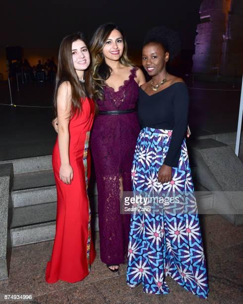 Zarina Mamadbekova Dilafruz Khonikboyeva and Mary Favour attend The Aga Khan Foundation Gala at The Metropolitan Museum of Art on November 15 2017 in...
