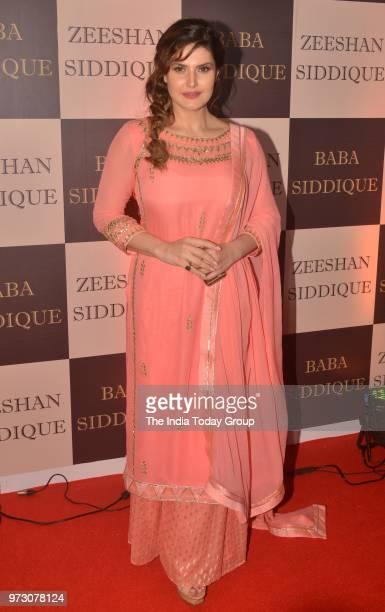 Zarine Khan at Baba Siddiques Iftar party in Mumbai