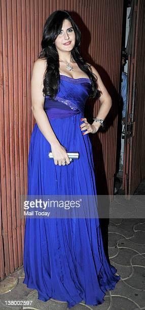 Zarine Khan at Sanjay Dutt's party held at Aurus in Mumbai on Sunday 29th January 2012