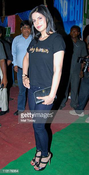 Zarine Khan at the music launch of the film 'Ready' at Filmcity in Mumbai