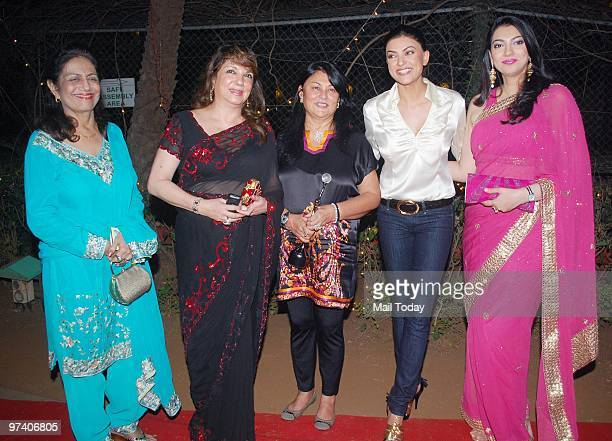 Zarine Khan Sushmita Sen and Yukta Mookhey at the GR8 Women Achievers Awards in Mumbai on February 26 2010