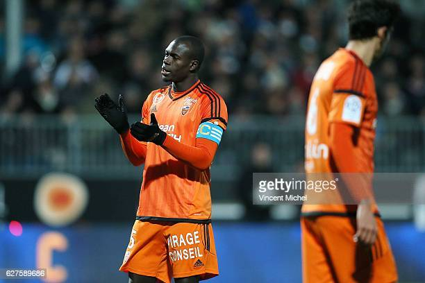 Zarko Toure of Lorient during the Ligue 1 match between Angers SCO and FC Lorient on December 3 2016 in Angers France