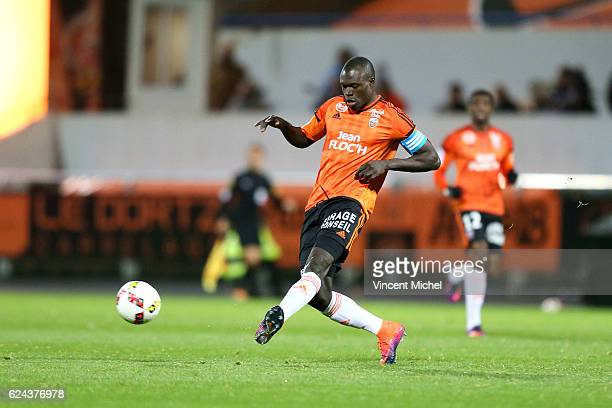 Zarko Toure of Lorient during the Ligue 1 match between Fc Lorient and As Monaco at Stade du Moustoir on November 18 2016 in Lorient France