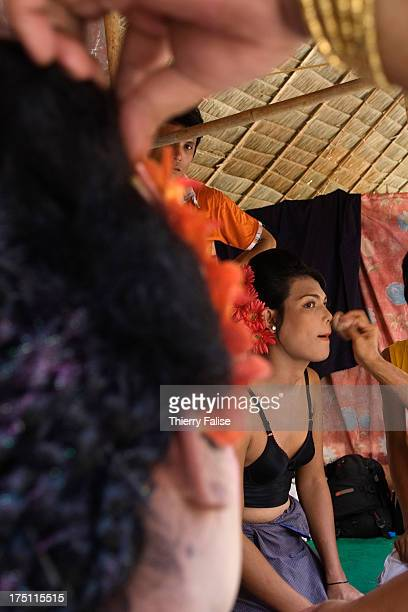 Zaw Moe a medium is getting dressed before dancing at the Taungbyon nat festival Every year in August hundreds of thousands of people from all over...