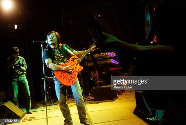 Zaw Win Htut or the 'Emperor' one of the most popular rock stars in Myanmar performs in a concert at a Yangon's hotel