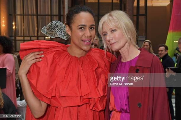 Zawe Ashton and Joely Richardson attend the Roksanda show during London Fashion Week February 2020 at The British Foreign and Commonwealth Office on...