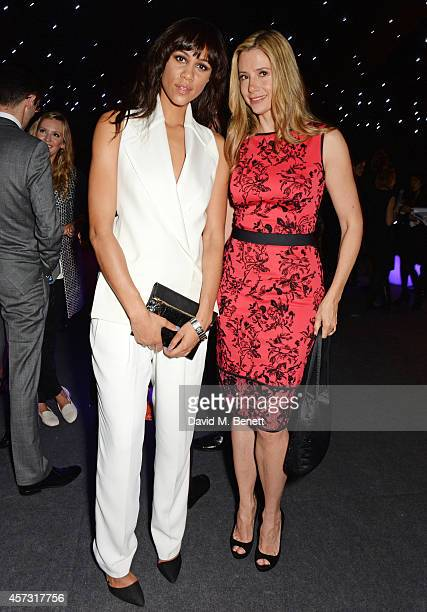 Zawe Ashton and Mira Sorvino attend the London Evening Standard's '1000 London's Most Influential People' at The Francis Crick Institute on October...