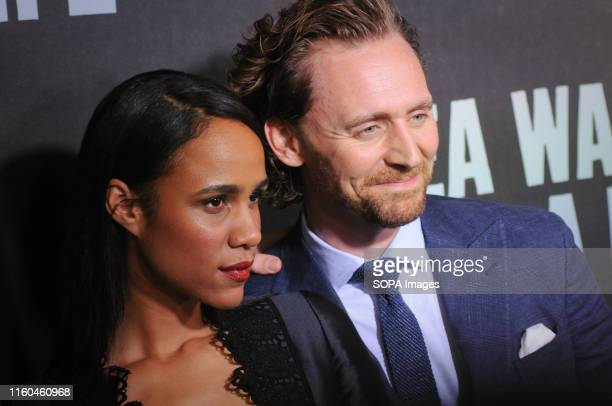 Zawe Ashton and Tom HIddleston attend the Sea Wall / A Life Broadway Opening Night at the Hudson Theater in New York