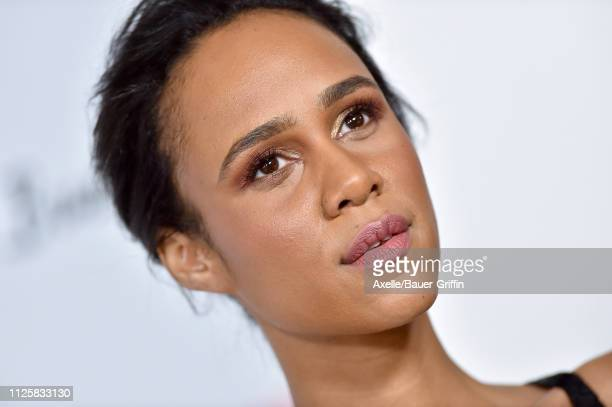 Zawe Ashton arrives at the Los Angeles premiere screening of 'Velvet Buzzsaw' at American Cinematheque's Egyptian Theatre on January 28 2019 in...