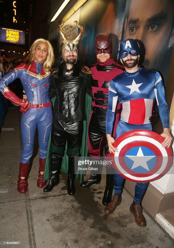 "The Broadway Cast Of ""Betrayal"" Celebrates Halloween : News Photo"