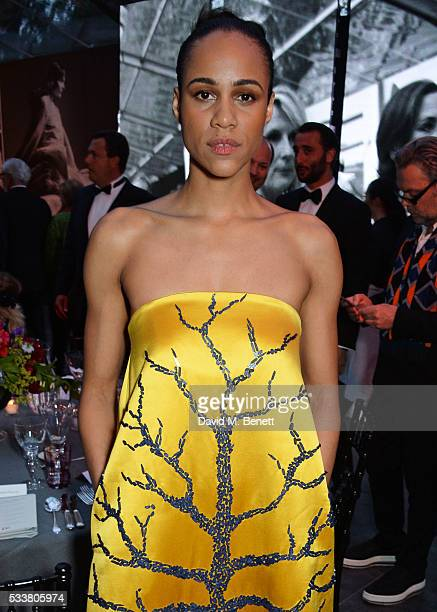 Zawe Ashton attends British Vogue's Centenary gala dinner at Kensington Gardens on May 23 2016 in London England