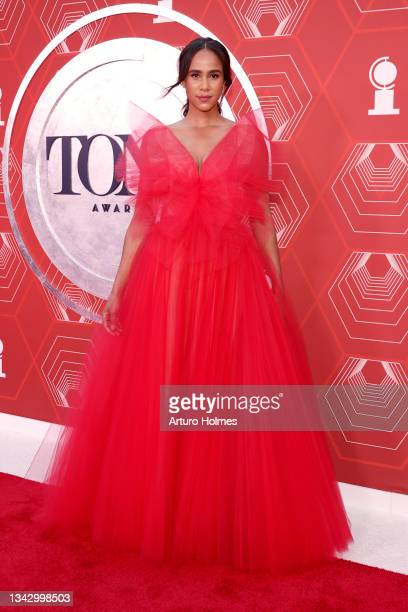 Zawe Ashton attends the 74th Annual Tony Awards at Winter Garden Theater on September 26, 2021 in New York City.