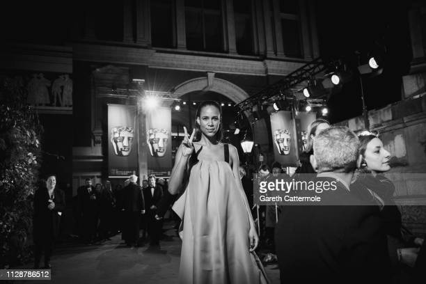 Zawe Ashton attends the EE British Academy Film Awards at Royal Albert Hall on February 10 2019 in London England