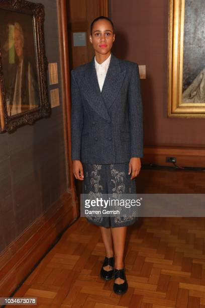 Zawe Ashton attends the ERDEM show during London Fashion Week September 2018 at the National Portrait Gallery on September 17 2018 in London England