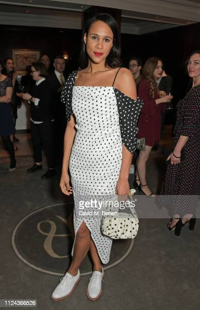 Zawe Ashton attends the press night after party for All About Eve at The Waldorf Hilton on February 12 2019 in London England