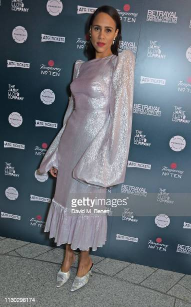 Zawe Ashton attends the press night after party for Betrayal at The Cafe In The Crypt St MartinintheFields on March 13 2019 in London England