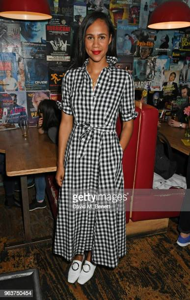 Zawe Ashton attends the press night after party for Blueberry Toast at the Soho Theatre on May 30 2018 in London England