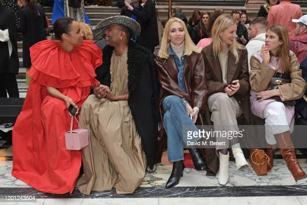 Zawe Ashton Billy Porter Sabine Getty Candice Lake and Monica Ainley attend the Roksanda show during London Fashion Week February 2020 at The British...