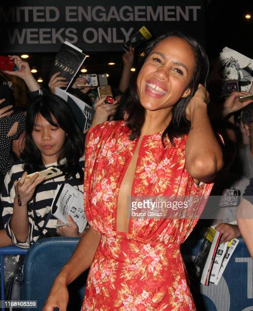 Zawe Ashton greets fans and signs autographs after the first public preview of Harold Pinter's classic play Betrayalon Broadway at The Bernard B...