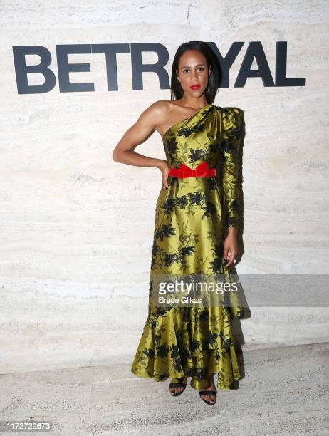 Zawe Ashton poses at The Opening Night of Betrayal on Broadway at THE POOL at the Seagram Building on September 5 2019 in New York City