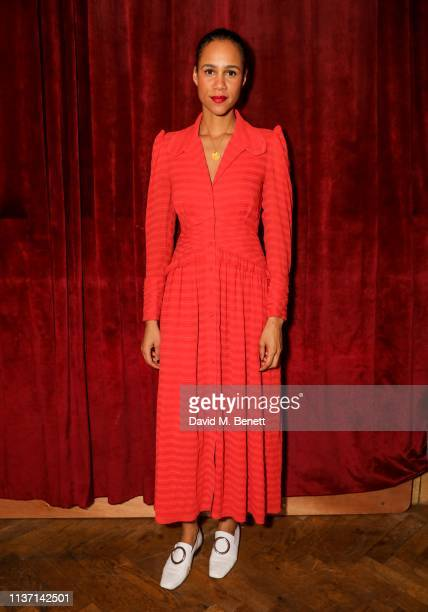 Zawe Ashton poses in the green room during the BFI Radio Times Television Festival 2019 at the BFI Southbank on April 14 2019 in London England