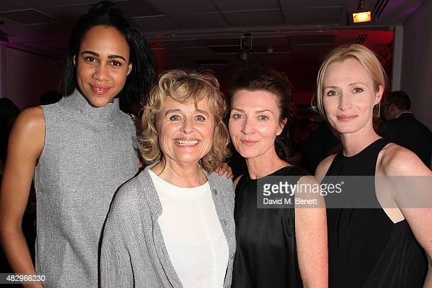 Zawe Ashton Sinead Cusack Michelle Fairley Genevieve O'Reilly attend the after party following the press night performance of Splendour playing at...