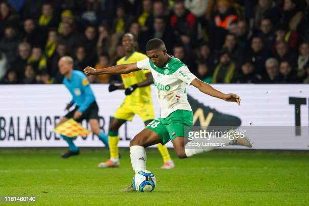 Zaydou YOUSSOUF of Saint Etienne during the Ligue 1 match between Nantes and Saint Etienne at Stade de la Beaujoire on November 10 2019 in Nantes...